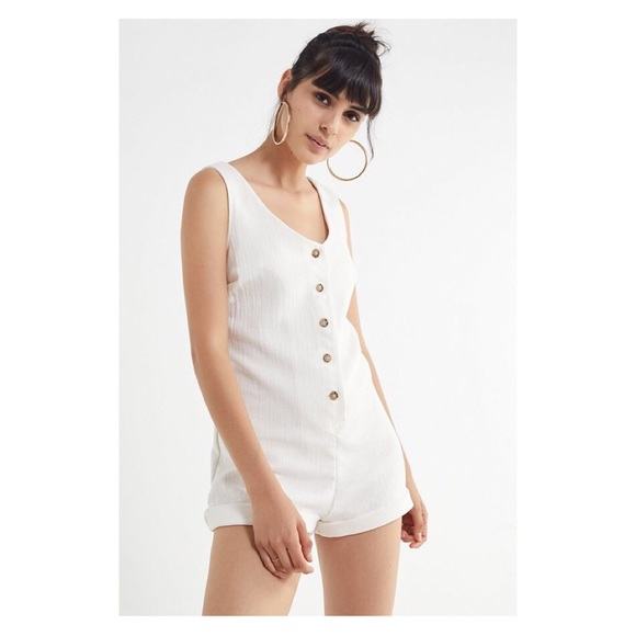 a32848995d10 UO Urban Renewal Remnants Double Cloth Romper. NWT. Urban Outfitters